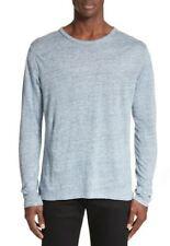 new RAG & BONE men shirt light sweater 100% linen M276T25JV blue XXL MSRP $165