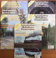 5 Vintage Magazines LOCOMOTIVE & RAILWAY PRESERVATION 56 57 60 61 62 1995-1996