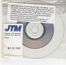 (GG856) Silver Sun, I'll See You Around - 1998 DJ CD