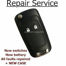 Repair service for Vauxhall Corsa D Astra MK5 Zafira remote flip key + new case