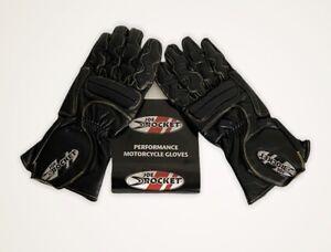 Joe Rocket Highside Mens S/M Leather Street Riding Hog Bike Motorcycle Gloves