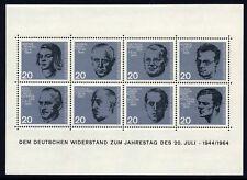 GERMANY . 1964 Resistance . Dietrich Bonhoeffer (883-890) . Mint Never Hinged