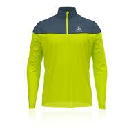 Odlo Mens Ceramiwarm Element Half Zip Top - Green Sports Outdoors Warm