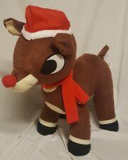 "Jumbo Rudolph Red Nose Reindeer Standing Plush Stuffed Animal 24"" Christmas"