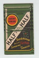 [B68637] 1900's PAPER WRAPPER for LUCKY STRIKE & HALF and HALF SMOKING TOBACCO