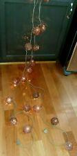 Pr Wicker Ball Brown Vine String Lights Wedding RV Party Patio In Out Door 10 Ct