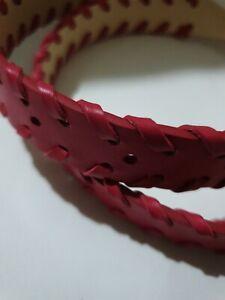 Women's Genuine Leather Braided Belt Tight Stitching Timberland Precision