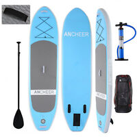 """Ancheer 10'6'' Inflatable SUP Stand Up Paddle Board Package, 6"""" Thick w/ Paddle"""