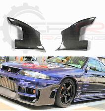 StingRay Style Carbon Fibre Front Bumper Canards for Nissan Skyline R33 GTR