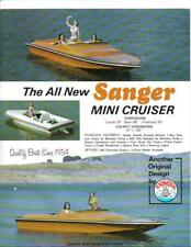 Sanger Boats mini cruiser windshield v-drive jet boat