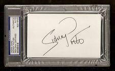 Sidney Pottier 1964 Oscar Award Winner Signed Auto Index Card PSA/DNA