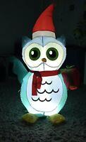 Gemmy Airblown Inflatable Blue Bird Christmas Owl Yard Decoration 4.5 Ft. Rare