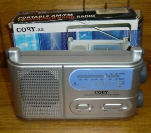 2006 Coby CX-38 Portable AM FM TV / Weather Band Radio - No Cord - Works