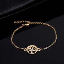 New Gold Plated Celtic Tree Of Life Boho Bangle Bracelet Gift Jewellery Gift Bag