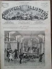 L'UNIVERS ILLUSTRE 1877 N 1168  PARIS, LE NOUVEL HÔTEL-DIEU, SALLE SAINT-ANDRE