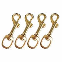 4 Pcs Scuba Diving Brass Swivel Eye Bolt Snap Hook Spring Leather Craft Dog Clip