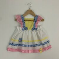 Vintage Cradle Togs Girls 18 months Dress Sundress Gingham Accents Apron