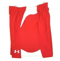 Under Armour Men's Size L HeatGear Soccer Jersey Activewear Shorts Red White NWT