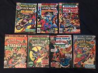 MARVEL TEAM-UP (Spider-Man) Bronze Age Lot of 7 comics - #21,37,38,41,45,64,83