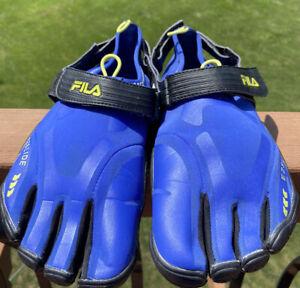 Fila Mens Skeletoes Men's EZ Slide Royal Blue/ Black Running Water Shoes Size 11
