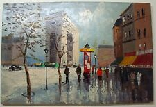 FRANCOIS DUBOIS Original Oil Painting on Canvas French Scene Arc de Triomphe ART