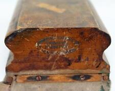 Antique Thompson's Cabinet Company Typesetter Printer's Proof Planer Block Tool