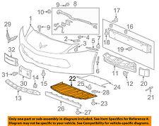 Chevrolet GM OEM 14-16 Corvette Front Bumper Grille-Front Deflector 23273619