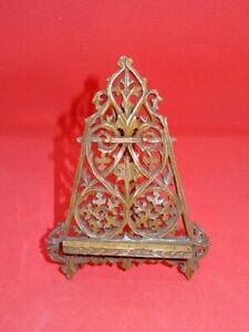 Attractive Vintage Carved Wooden Photograph Easel Stand - 5""