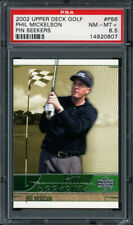 2002 UPPER DECK PIN SEEKERS #PS6 PHIL MICKELSON RC PSA 8.5 NM-MT+ Rookie Card