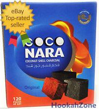 240 Pcs 2 x 120 Coco Nara Charcoal Natural Coconut Hookah Shisha Coal CocoNara