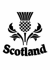 High Detail Scotland Airbrush Stencil - Free UK Postage