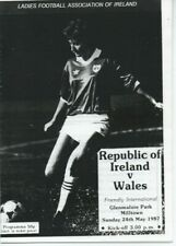 More details for republic of ireland women vs wales women : friendly may 1987 : photocopy