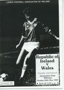 Republic of Ireland Women Vs Wales Women : Friendly May 1987 : Photocopy