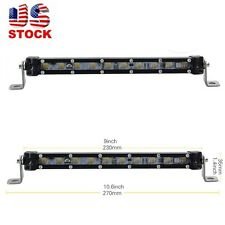 Slim 10inch 10W CREE LED Single Row Work Light Bar Spot OFFROAD DRIVING LAMP 9""
