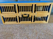 Wooden Pigeon 6 Bird Stall Cage Carrier Transport Crate