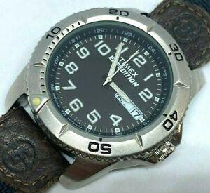 Timex Expedition Men 100m Move Bezel Analog Quartz Watch Hours~Day Date~New Batt