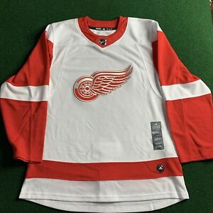 NWT Adidas NHL Detroit Red Wings Hockey Jersey White CA7085 Size 50 (Medium)