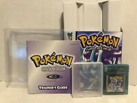 Nintendo Gameboy Pokemon Crystal Version With Manual Box Authentic Game Tested