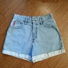 Denim Blue Jean Cuffed Shorts