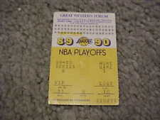 1989 Los Angeles Lakers v Phoenix Suns Semifinals Playoff Basketball Ticket