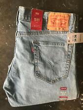 Authentic Genuine Men's Levi's 511 Slim Fit Advanced Stretch Jeans 34 - 36