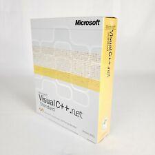 MICROSOFT VISUAL C++ .NET STANDARD VERSION 2003 1 USER NEW SEALED!