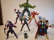 Marvel Legends Avengers action figure lot Thor Hulk Hawkeye Iron Man Black Widow