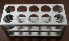 Stainless steel test tube rack 10 tubes diameter 30 mm display stand New