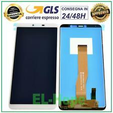 DISPLAY LCD WIKO Y80 4G LTE W-V720 TOUCH SCREEN VETRO SCHERMO MONITOR BIANCO