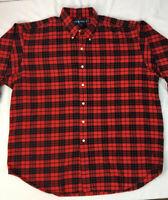 Ralph Lauren Men's Flannel Shirt Plaid Blake Cotton Long Sleeve Button Down XXL