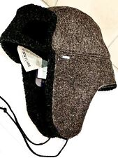 hat with earflaps military gray large FINN FLARE Wool