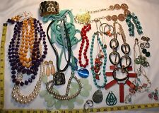 Vintage to Now Modern Costume Jewelry Necklaces Earrings Sets-Over 2 LBS! Lot 28
