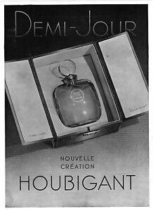 *** Demi-Jour _ nouvelle création HOUBIGANT *** 1936 - pub. (24 x 33) // p462