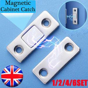 1/2/4/6 SET Strong Magnetic Door Closer Cabinet Catch Latch Cupboard Closer lock
